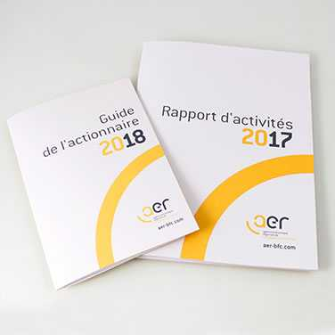 Visuel AER - Rapport 2017 et guide actionnaires 2018